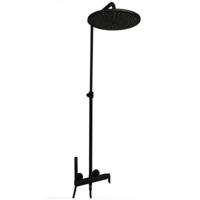 SIMPLE Esőztető rendszer fej- és kézizuhannyal matt fekete színben